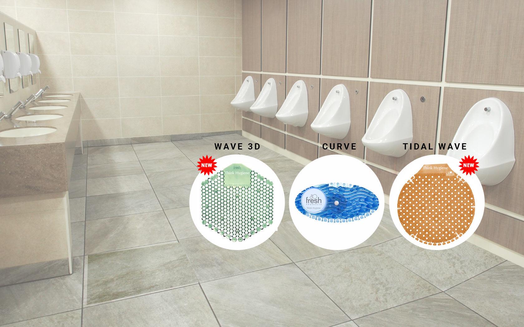 Washroom air freshener | Wave urinal screen | Urinal Screen